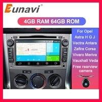 Eunavi 2 Din Android Car DVD Multimedia For opel Vauxhall Astra H G J Vectra Antara Zafira Corsa Vivaro Meriva Veda GPS Radio 4G