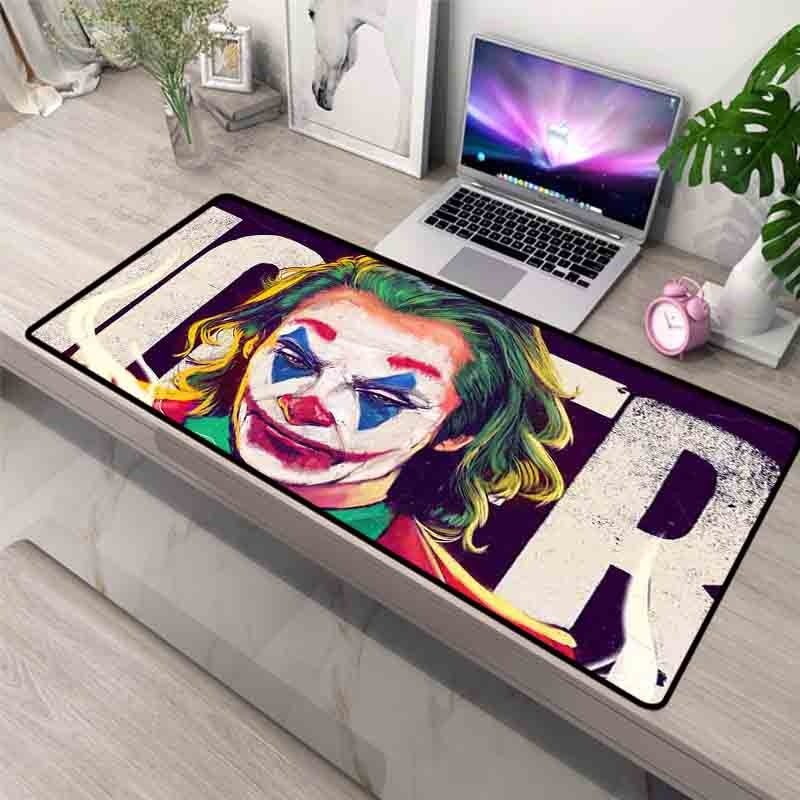 XGZ Funny Joker Movie Pattern Large Mouse Pad Gamer Internet Cafe Keyboard Pad Custom Gaming Mouse Pad Desk Mat 90x40 custom original night and cat nature series mouse pad