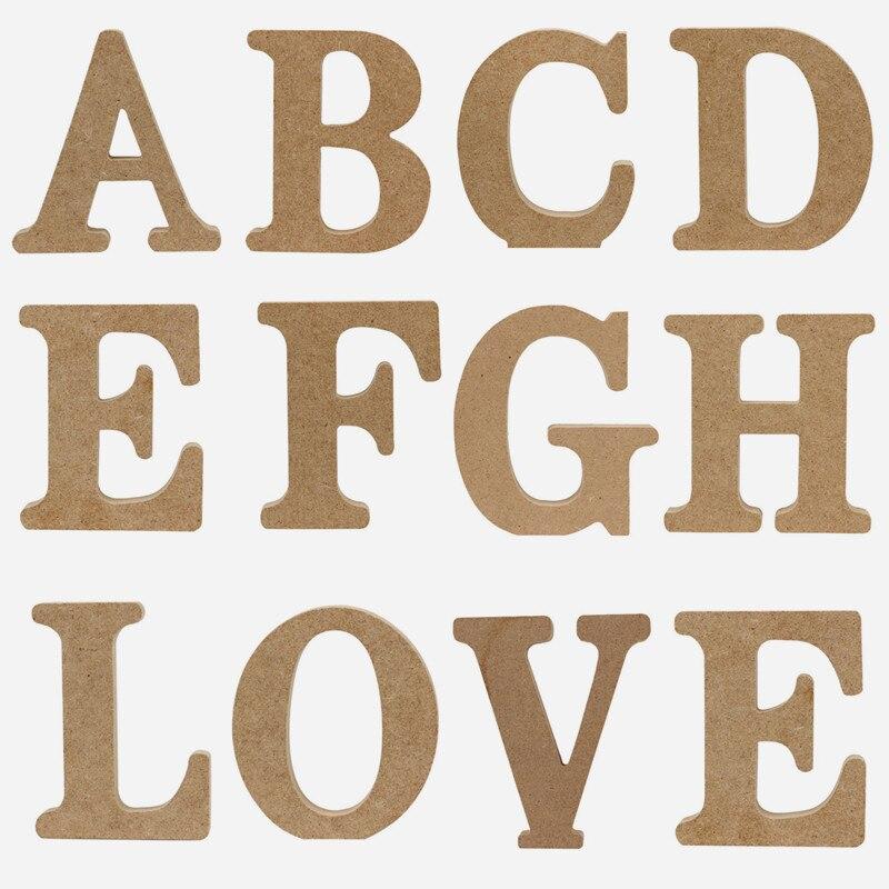 26 Английских алфавитов, украшения для дома, декоративные буквы, деревянные буквы, деревянные буквы, капитал, Английский алфавит, деревянные ...