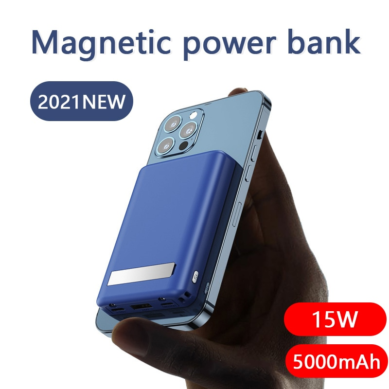 For MagSafe Charger Holder 15W Magnetic Wireless Power Bank Bracket For iPhone 12 Pro Max 12mini Fast Charging Auxiliary Battery