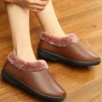 2021 winter warm slipper women waterproof non slip shoes women thick heel cotton plush indoor soft slipper memory foam couples
