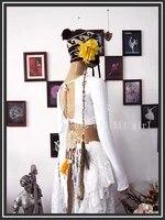 lycra cotton belly dance iong sleeve choli top velvet fat chance tribal lb23 28