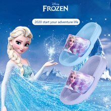 DISNEY Non-slip Children Slippers Frozen Princess Elsa Slipper EVA Summer flip flop Kids Water Shoes