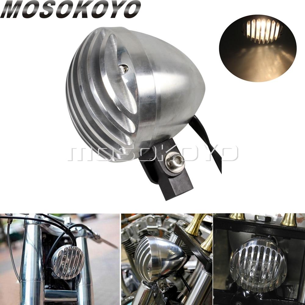 H4 faro estilo Retro Universal luces de cabeza personalizadas e-mark aprobado para Cafe Racer BOBBER Chopper motocicleta lámpara de cabeza