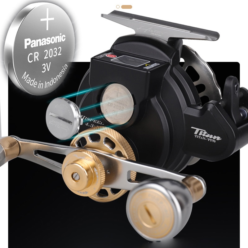 Digital Display Electronic Fishing Reel 2021 New 4.3:1 High Speed Ratio Low Profile Line Counter Baitcasting Reel Fishing Tools enlarge