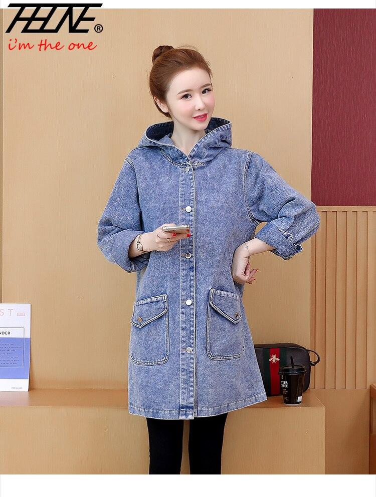 Chaqueta vaquera THHONE para mujer, chaqueta vaquera, abrigo informal holgado estilo coreano,...