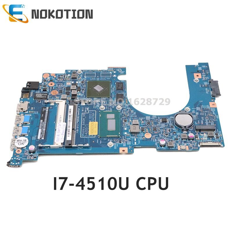 NOKOTION NBMQK11004 NB. MQK11.004 14205-1 pour Acer aspire VN7-571 VN7-571G carte mère dordinateur portable SR1EB I7-4510U CPU 840M GPU