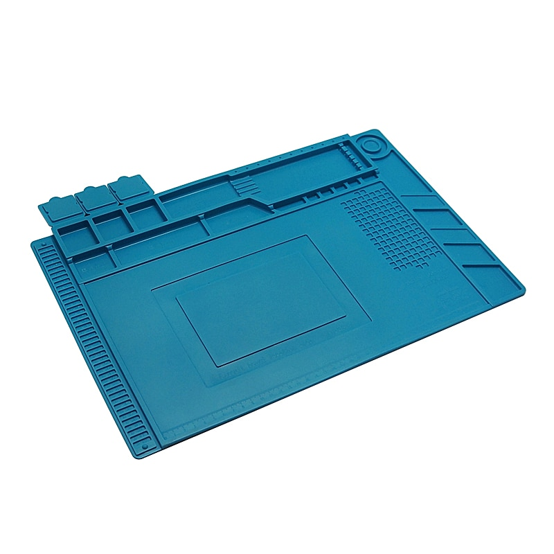 Unversial Soldering Mat Heat Insulation Pad Silicone Pad Desk Mat  Platform S-160 for BGA Soldering Station Heat Insulation Pad enlarge