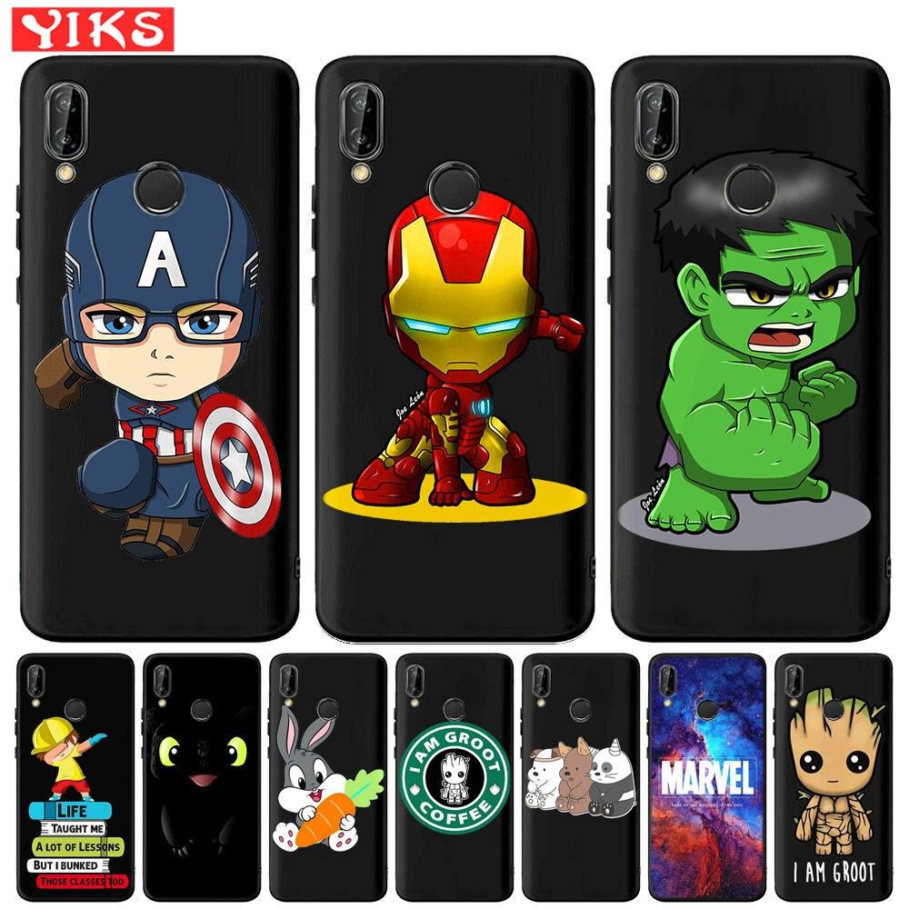 Funda de Spiderman de Marvel, vengadores, Hulk, Capitán América, para Huawei Mate10 20 30 Lite Pro P20 P30 P40 Pro P9 P10 Lite, Fundas Etui