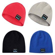 Bluetooth écouteur musique chapeau hiver sans fil casque casque casque avec micro Sport chapeau pour Sony Xiaomi téléphone jeu casque