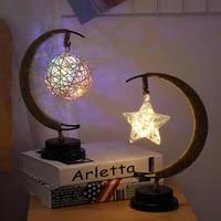 led star lights birthday lantern handmade hemp rope night light home bedroom decor for birthday gift sepak takraw lights
