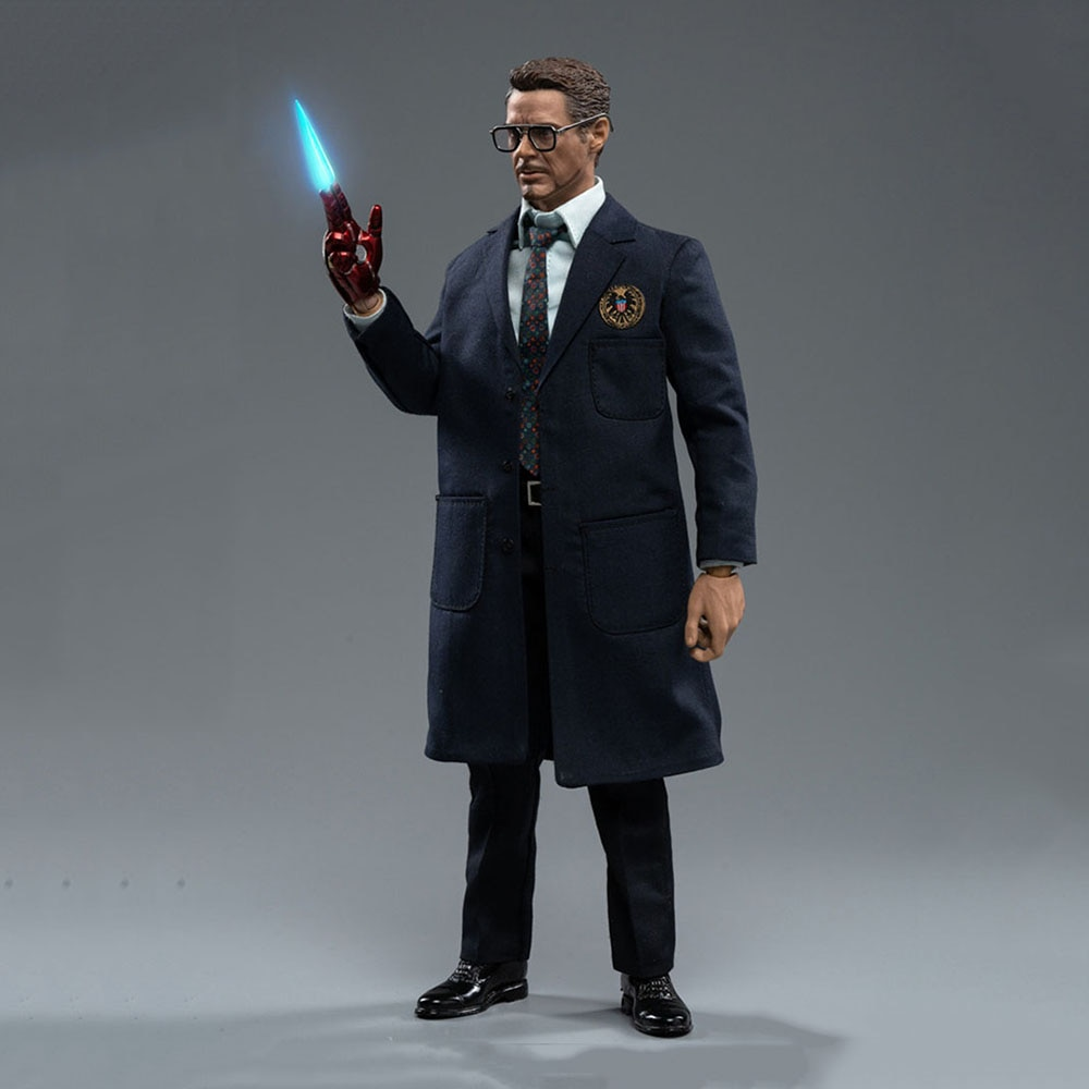MTOYS MS015 1/6 Iron Hero Tony Figure Model 12 INCH Robert Downey Jr. Soldier Action Doll Full Set Toy for Collection