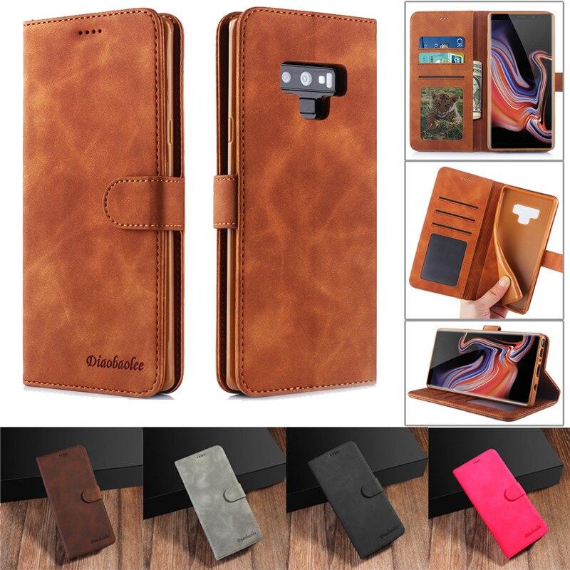 Fundas para Samsung Galaxy S8 de cuero libro cartera carcasa de teléfono caso para Samsung Nota 10 S9 S10 más A70 A50
