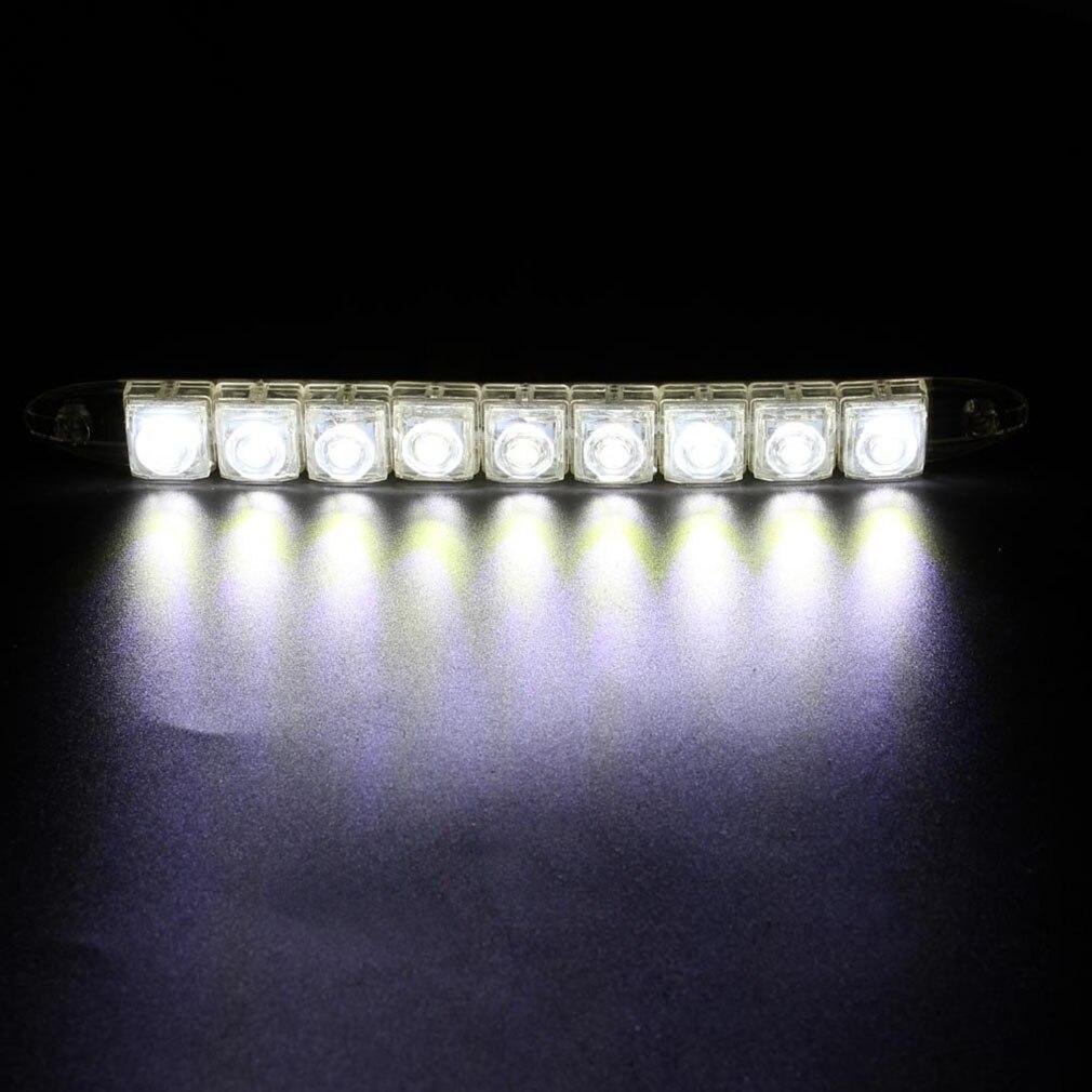 Genuino ICOCO 9 Leds 23cm de lujo Gel de silicona luces diurnas tira LED Flexible para coche luz DRL estilo de coche