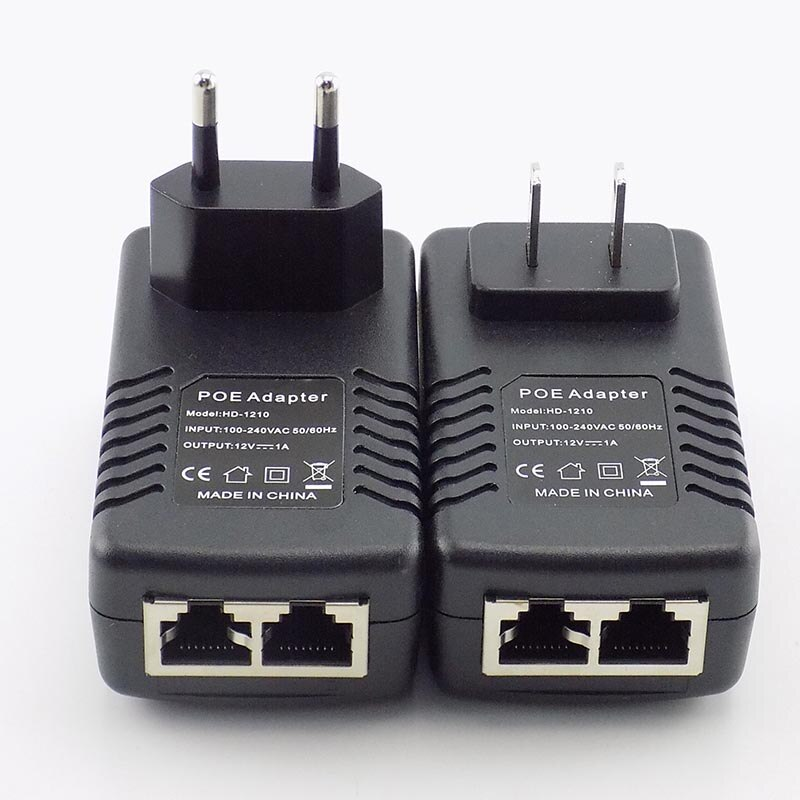 5 Pieces POE Injector Power Supply DC12V 1A DC 48V 0.5A POE Ethernet Adapter For Security CCTV Camera System enlarge
