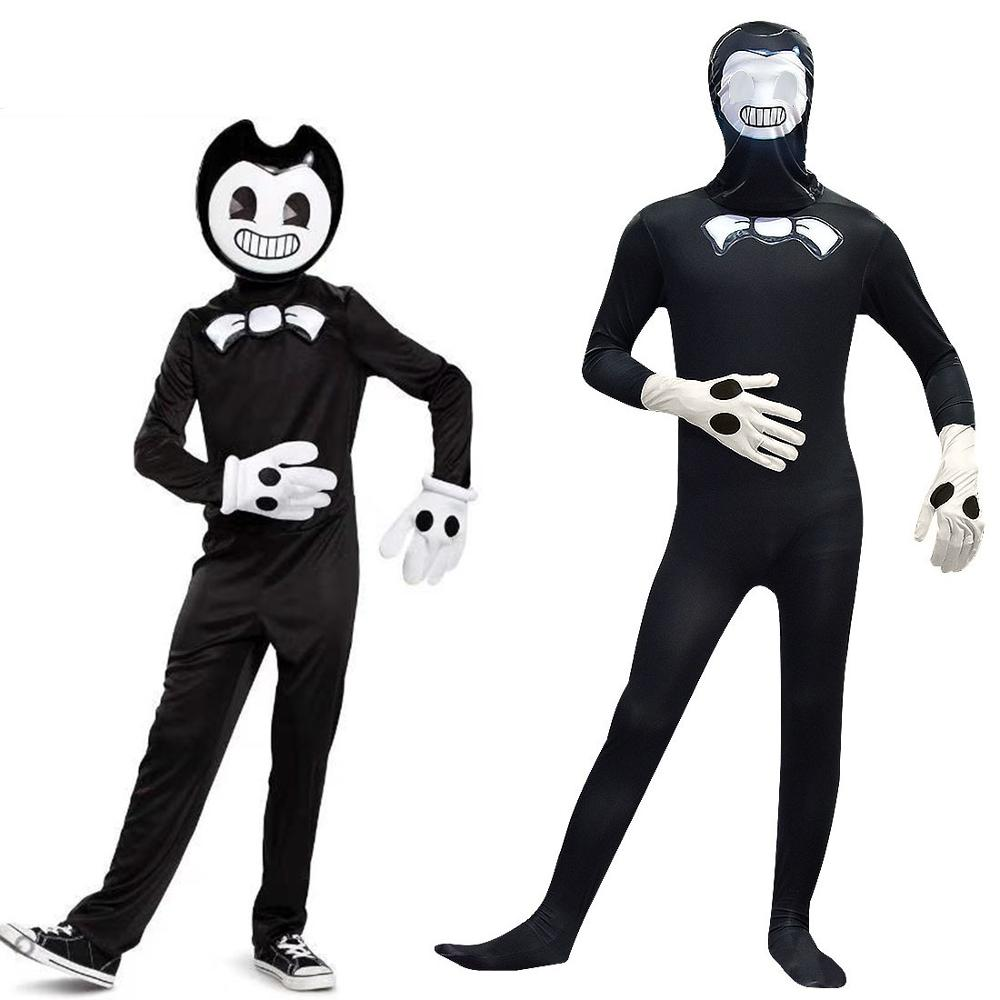 Bendy und die Tinte Maschine Kinder Halloween Cosplay Kostüme Teen Jungen Kleidung Sets Mode Für Party Overall Kinder Onesies