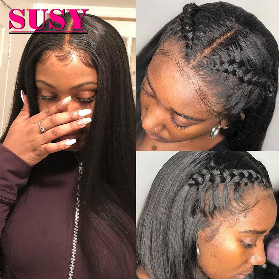 lace front wig Bone Straight lace front wig T part lace frontal wig brazilian lace front human hair wigs for black women 13x5x1