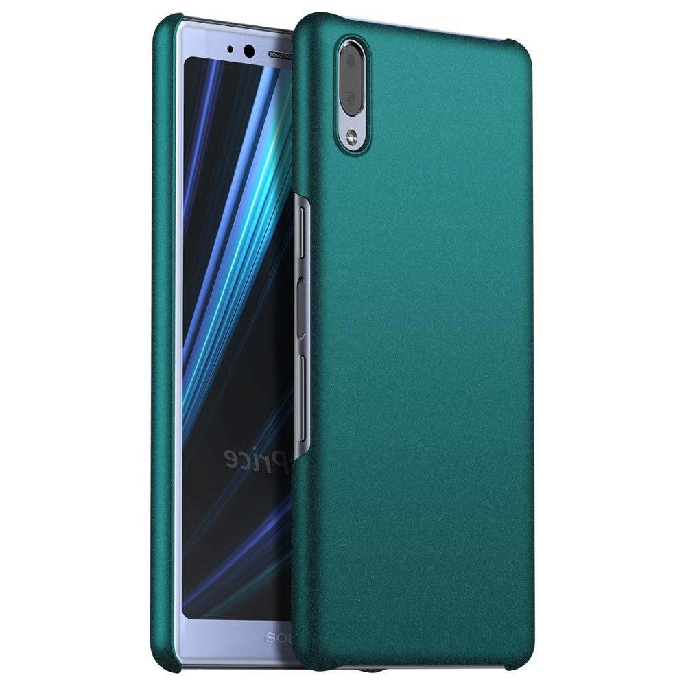 Caso Original para Sony Xperia X10 L2 L3 XA2 más XA3 Xperia 1 2 20 XZ Premium XZ1 XZ2 XZ3 funda de PC dura mate XZ4 compacta