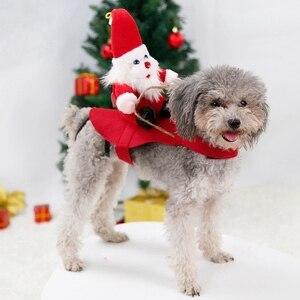 Рождественские наряды, рождественское платье, одежда для питомца собаки кота кролика, забавное милое платье для макияжа