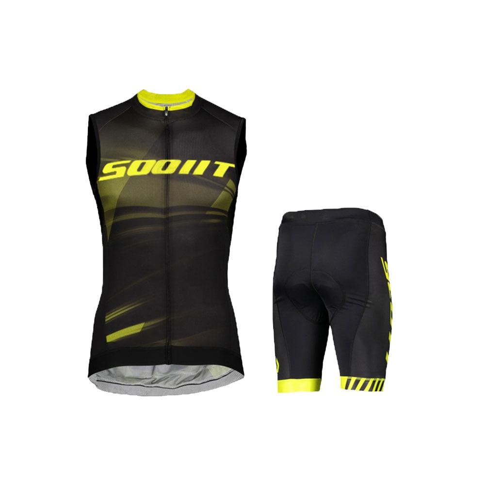 Sooit-Maillot Sin Mangas para Ciclismo, ropa de Ciclismo de montaña, conjunto de pechera, traje de Ciclismo para hombre, Verano