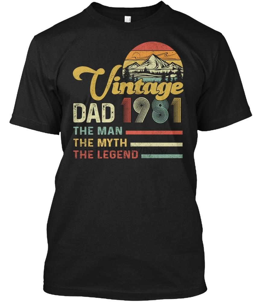 Camiseta para hombre de regalo de cumpleaños de 1981