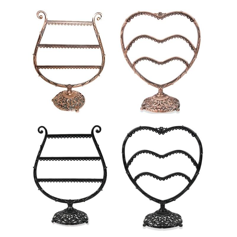 Heart/Wine Cup Shape Earrings Bracelet Storage Shelf Jewelry Display Holder Ear