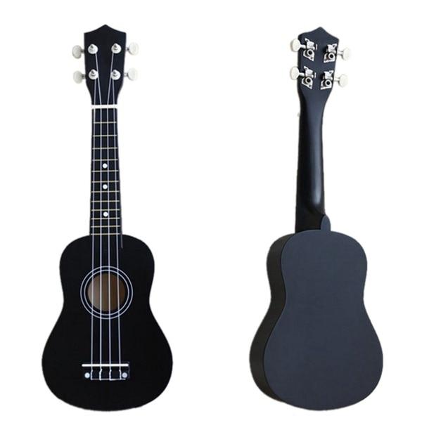 21 inch Soprano Ukulele 4 Strings Hawaiian Guitar Uke + String + Pick For Beginners kid Gift multi color,black,pink,blue...... enlarge