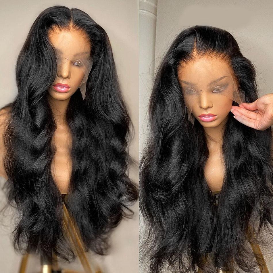 30 32 inch Body Wave Lace Front Wig Human Hair 13x4 Lace Frontal Wigs Black Women Brazilian Hair Pre