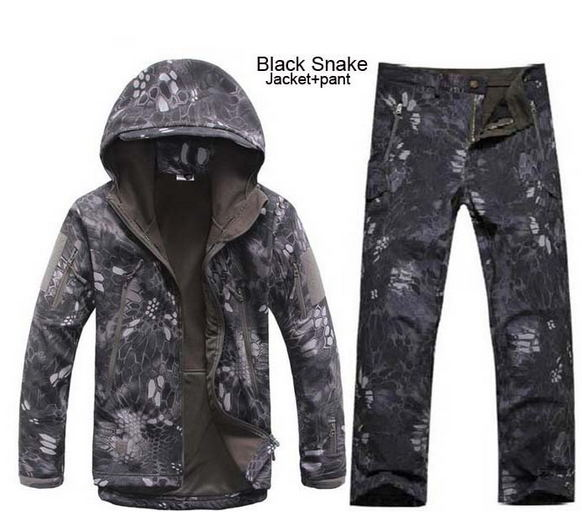 Camuflaje ropa de caza Piel de tiburón suave Shell Lurker Tad V 4,0 chaqueta de lana militar táctica al aire libre + trajes de pantalones uniformes
