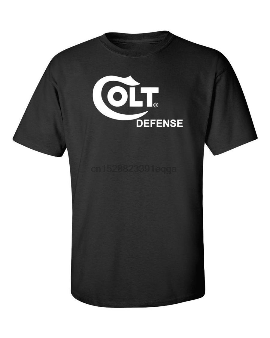 Colt defesa logotipo branco camiseta 2nd emenda pro arma marca t armas de fogo rifle mais tamanho camiseta