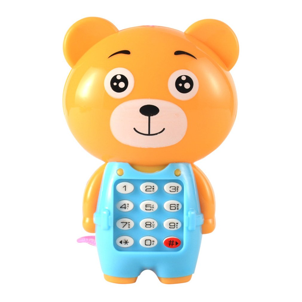 Электронная игрушка телефон музыкальный мини милый детский телефон игрушка раннее образование мультяшный телефон детские игрушки