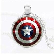 30 Avengers fer homme coeur temps Super film héros signe chaîne collier rassemblement énergie capitaine amérique bouclier collier bijoux