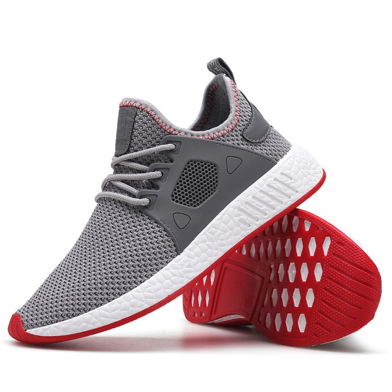 2021 Fashion Men Shoes Casual Weaving Fly Mesh Breathable Light Soft Black Slipon Mens Shoe Male Trainers Sneakers Human Race  - buy with discount