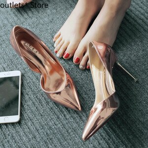 New Spring and Autumn Women's High-heeled Shoes High-heeled Sandals Thin Heel Shallow Mouth Pointed Single Shoes Women
