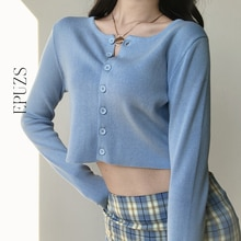 Chaqueta corta de manga larga Vintage para mujer cárdigan negro blanco botón coreano tejido suéter ropa de invierno para mujer