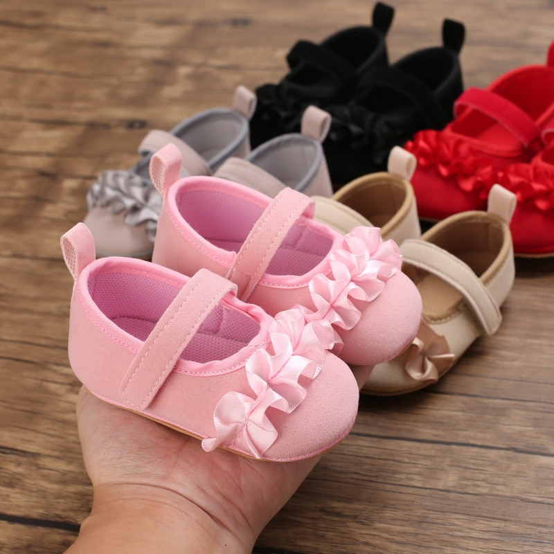 Soft Leather Baby Moccasins Shoes Newborn Rubber Sole First Walkers Floral  Toddler Shoes Infant Gir
