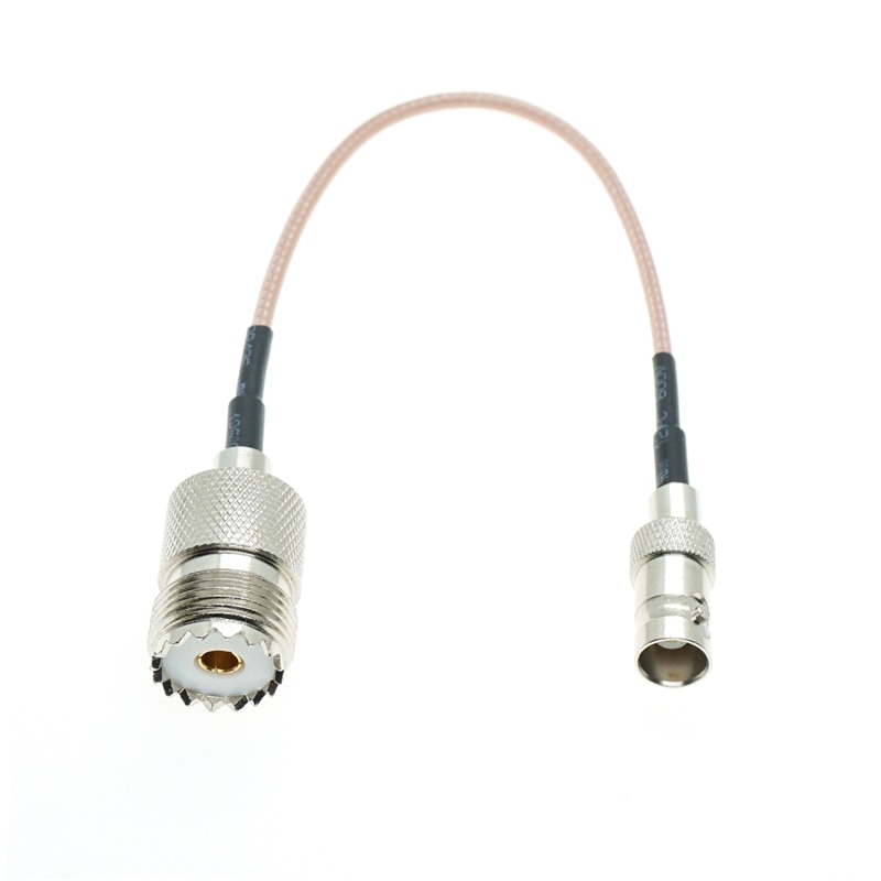 Conector BNC hembra a UHF hembra SO239, lote de Cable RF RG316