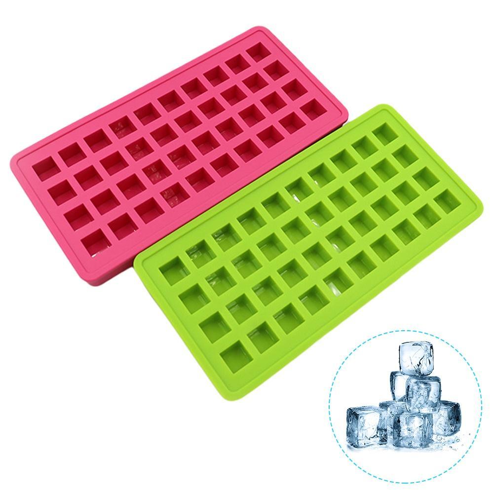 40 grades de silicone quadrado cubo gelo molde bandeja diy puddings geléia molde cozinha ferramenta