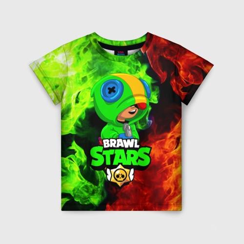 Детская футболка 3D BRAWL STARS LEON|Тройники| | АлиЭкспресс