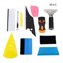 10 In 1 Window Tint Car Wrapping Vinile Lavavetri Raschietto Applicatore Kit Auto Pellicola a Colori Kit