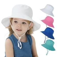 1-8 Years Girls Sunbonnet Sun Hats Fisherman Caps Floral Print Touca Baby Children Infant Kids Spring Summer Fall Beach Headwear