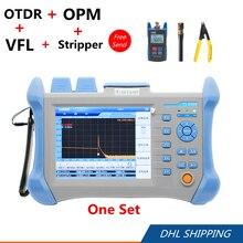 60km/120km TMO-300 OTDR +TL-510 Optical Power Meter +10MW VFL + CFS-2 Stripper Tool Set TMO300 optical time domain reflectometer
