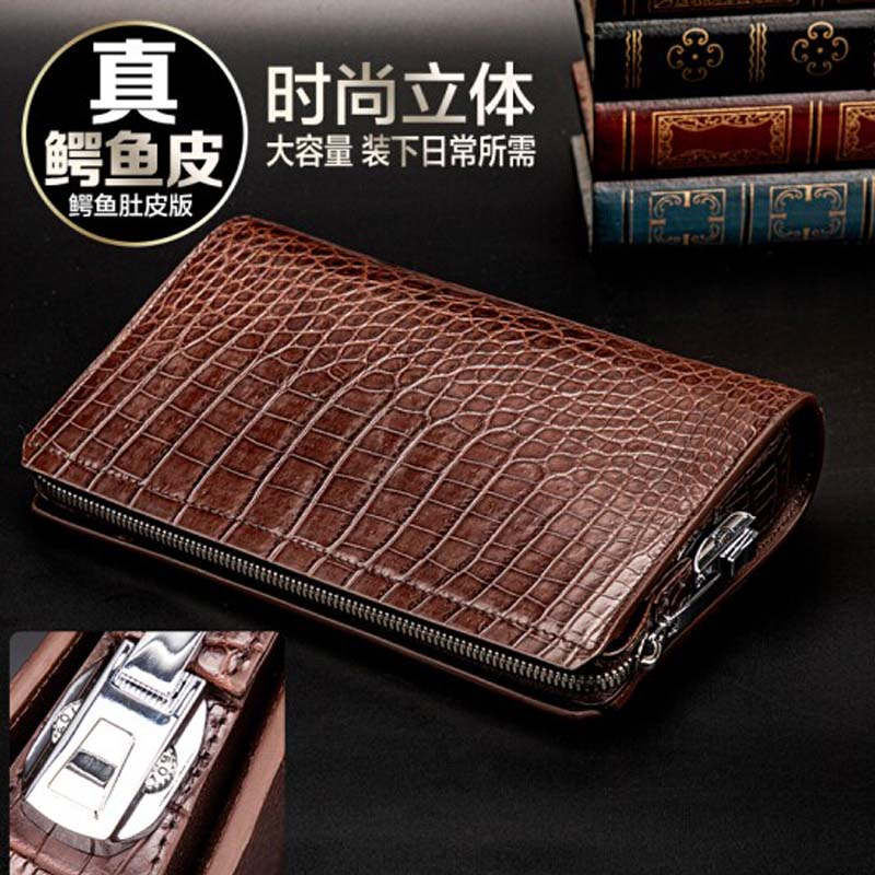 yinshang crocodile  male  Hand bag  new men clutch bags  business large capacity  Cross section  men wallet  Combination lock