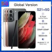 Samsum S21+ Smartphones Global Version 6.7 Inch 512GB Qualcomm 888 6800mAh Cellphone Mobile Phone Un