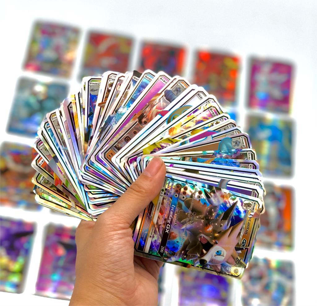 300pcs-english-gx-vmax-shining-takara-tomy-pokemon-cards-gioco-inglese-battle-carte-200pcs-carte-collezionabili-gioco-giocattolo-per-bambini