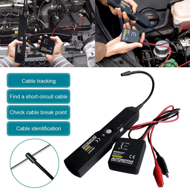 Tracer curto e aberto automotivo do fio do cabo do verificador do localizador para o teste da linha do tom all-sun em415pro