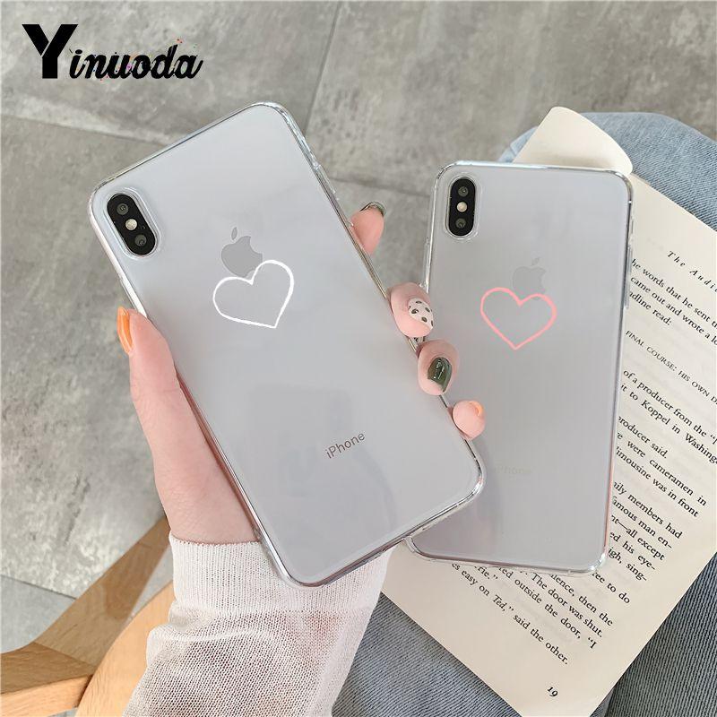 Чехол для телефона Yinuoda бордовый с сердечками розами слезами конфетами iPhone 8 7 6 6S