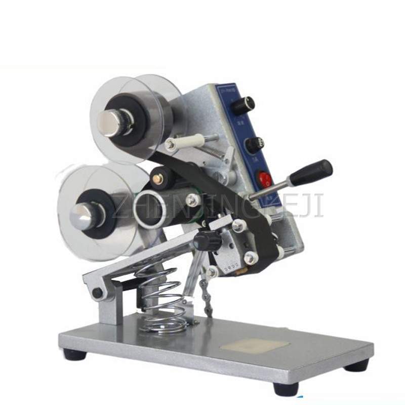 220V Manual Coding Machine Produce Date Ribbon Code Tool Unidirectional Print Batch Number English Letter/Word Can Made To Order
