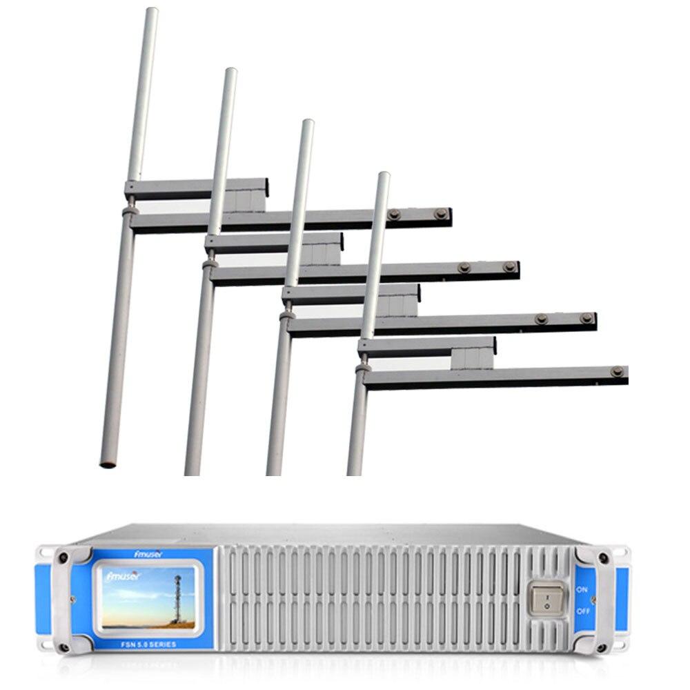 FSN-1000C dsp 1000w 1kw fm transmissor de rádio de transmissão + 2 baías de FU-DV2 fm dipole antena um kit para estação de rádio