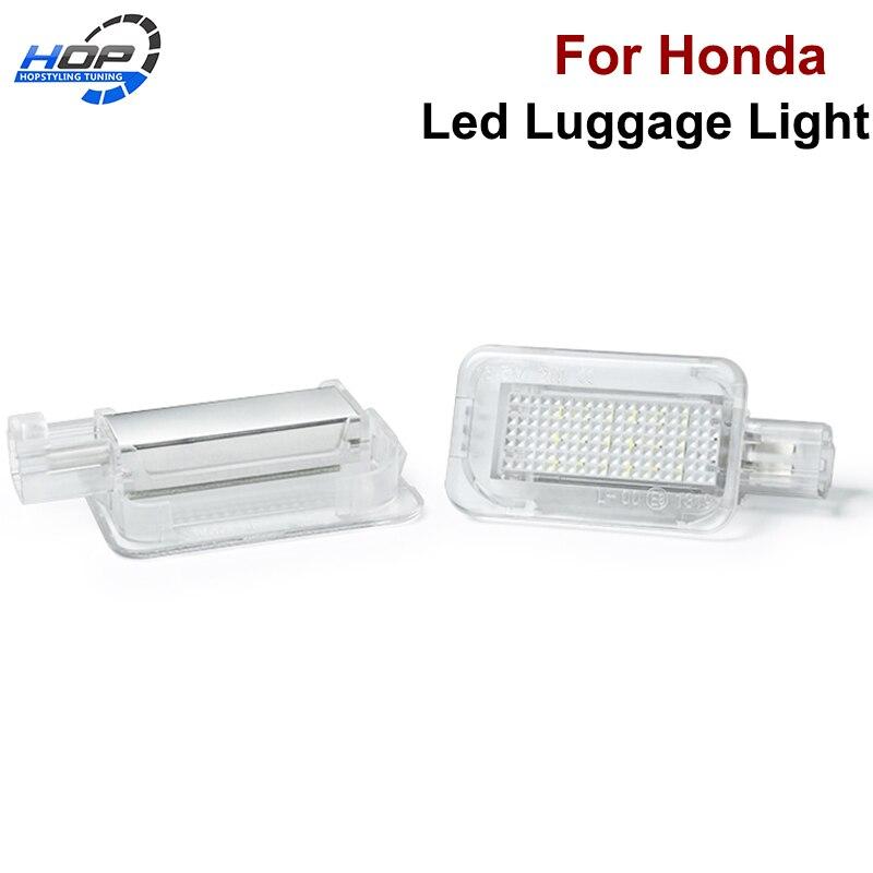 1 Uds 18SMD T10 w5s LED compartimiento de equipaje luces interiores para Honda Accord 4D ciudad 4D cívica 3D 4D 5D híbrido CR-Z Jazz ajuste 5D